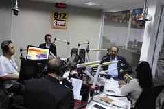 Prefeito Alexandre Kalil visita Rádio Super