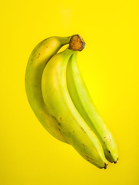 A portrait of a bananas.