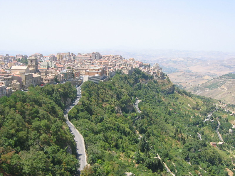 View of Enna, Sicily