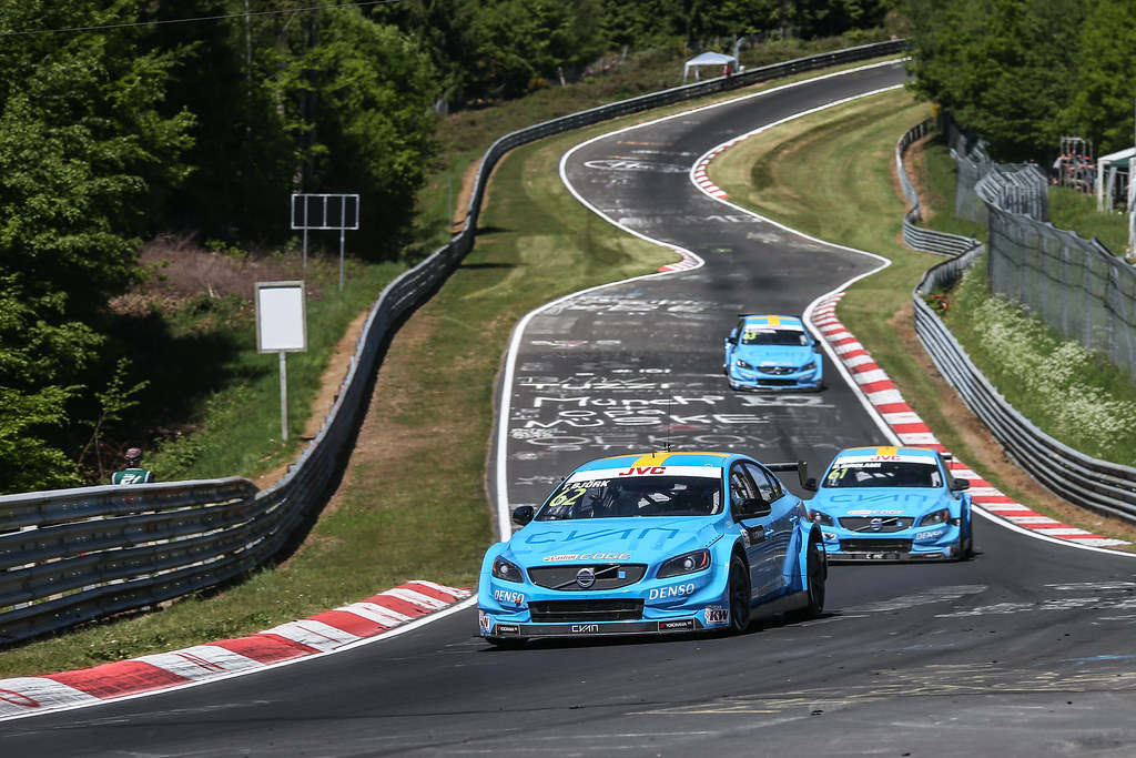 62 BJORK Thed (swe), Volvo S60 Polestar team Polestar Cyan Racing, 61 GIROLAMI Nestor (arg), Volvo S60 Polestar team Polestar Cyan Racing, 63 CATSBURG Nicky (ned), Volvo S60 Polestar team Polestar Cyan Racing, action during the 2017 ETCC European Touring Car Championship race at Nurburgring, Germany from May 26 to 28 - Photo Antonin Vincent / DPPI