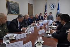 CBP Acting Deputy Commissioner Ronald Vitiello and DHS Secretary John Kelly Meeting with Panamanian President Varela