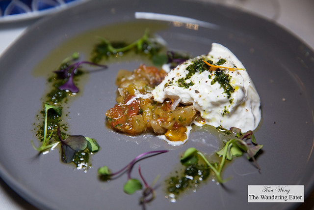Burrata with sundried tomatoes