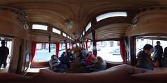 Riga interior of historical tram 88031