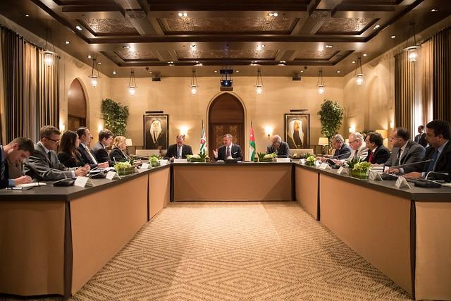 جلالة الملك عبدالله الثاني يستقبل وفدا من لجنة الشؤون الخارجية في مجلس النواب الأمريكي
