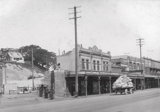 Photo:Last stage of demolishing the Australian Agricultural Company Bridge c. 1920 By Local History, Newcastle Region Library
