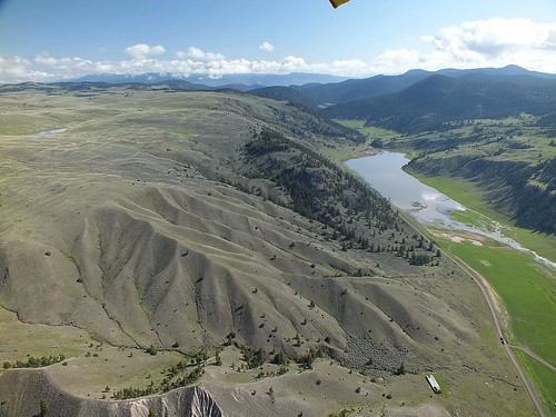 nademlejnsky flying kamloops trike hangglider nature aerial
