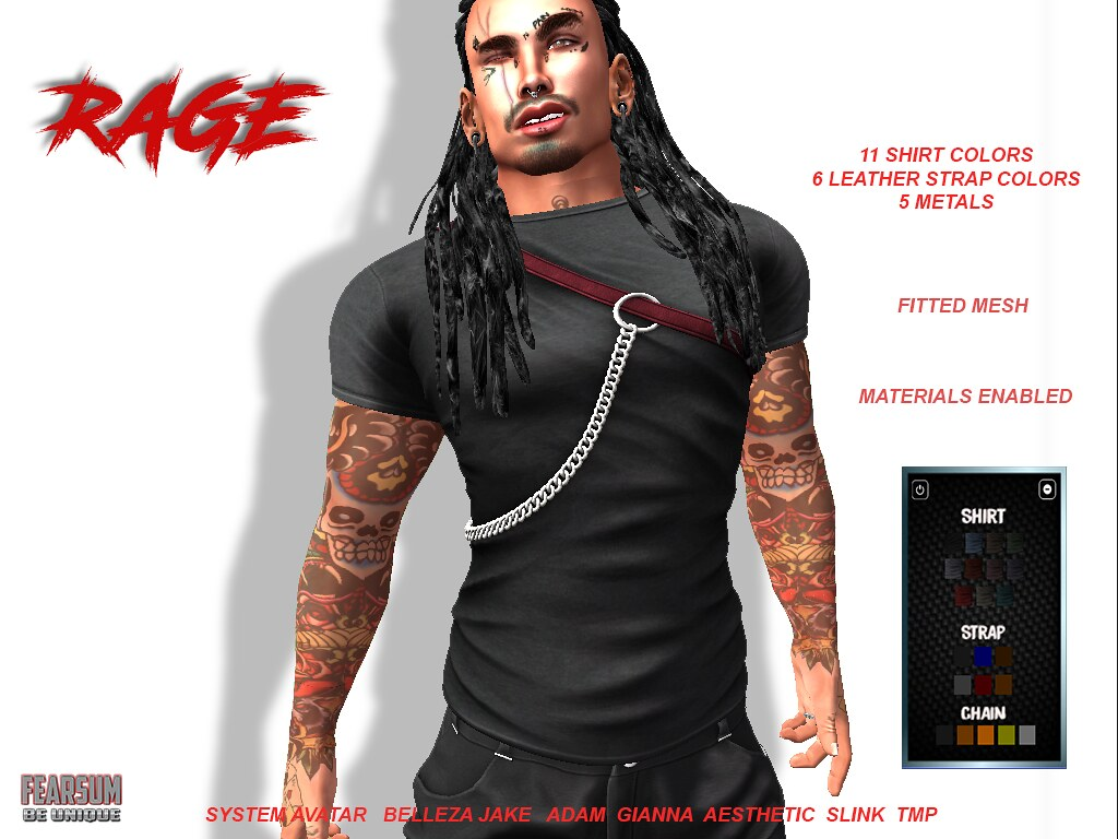 Rage Shirt - SecondLifeHub.com