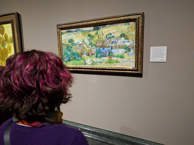 admiring art at National Gallery