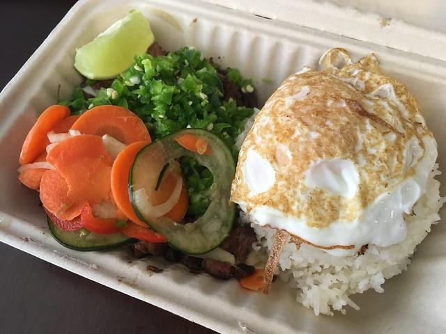 Pork sisig with steamed rice - Senor Sisig