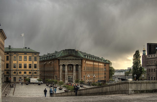 Looking from the Palace in Stockholm