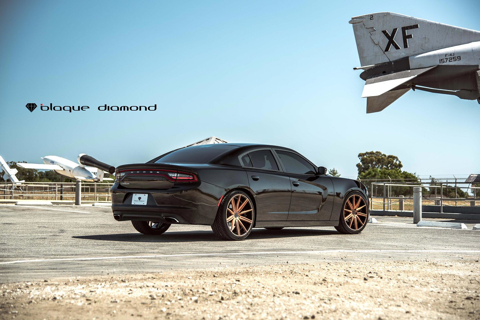2014_Dodge_Charger_BD9_22_inch_Penny_Copper_Gloss_Black_Barrel