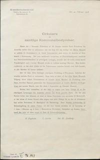 ingen petroleum fra Amerika, vinter 1917, cirkulære Februar 1917