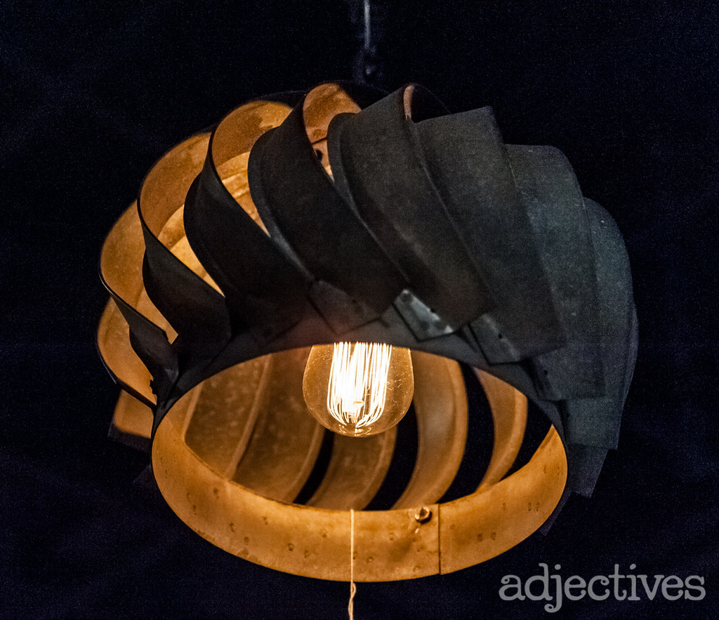 Industrial hanging light by Cottage Antiques at Adjectives Altamonte