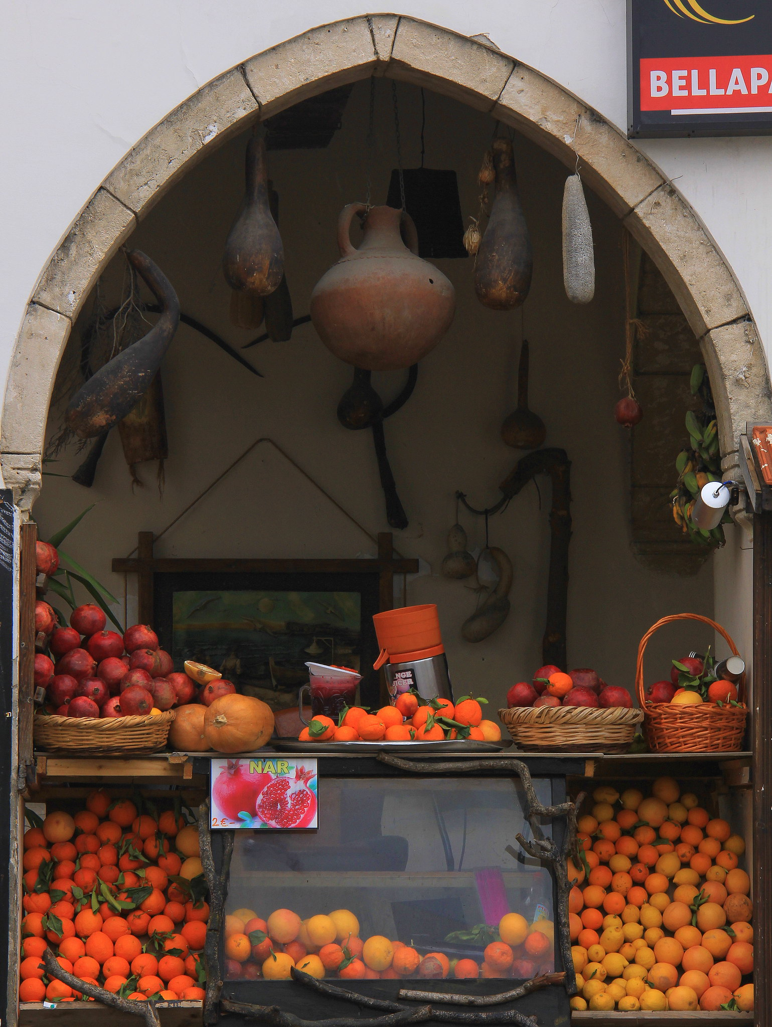 Fruits shop near Bella Pais monastery in Northern Cyprus