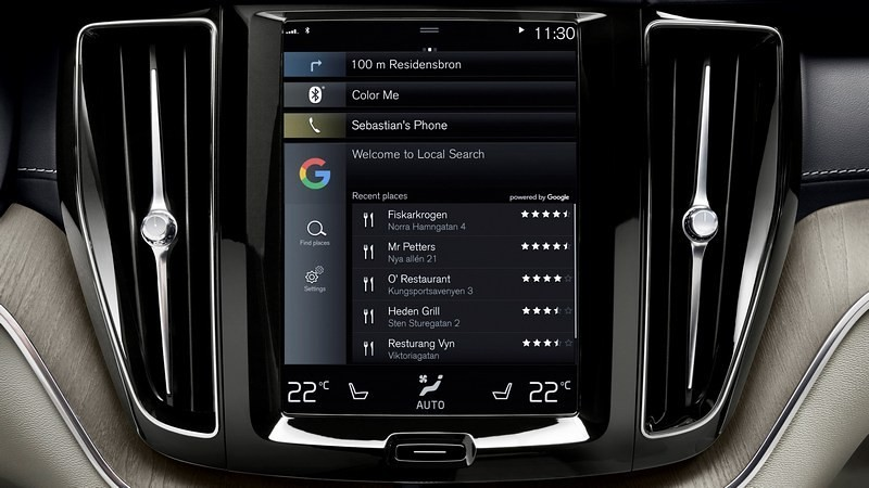 volvo android auto google search