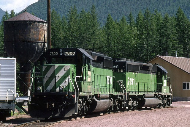 1994 07 07   5  BN 7800 and 7191 pushers, on Wye at Essex MT (Custom)