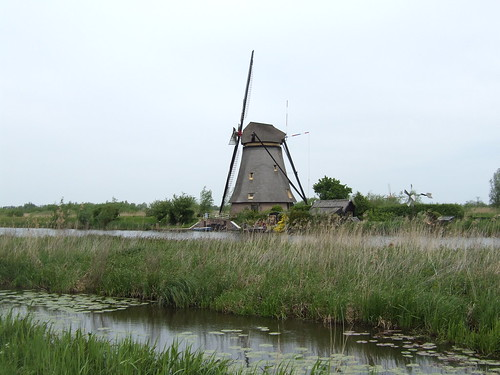 beautiful old windmill in the Netherlands