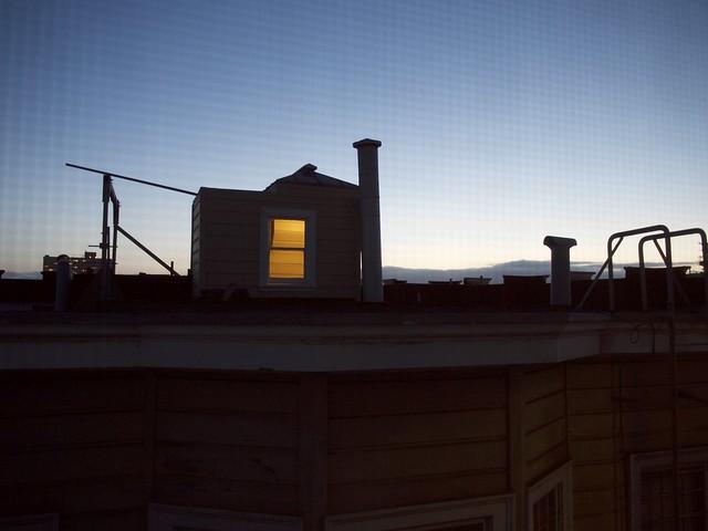 View from the kitchen, Panasonic DMC-GF1, Lumix G Vario 14-45mm F3.5-5.6 Asph. Mega OIS