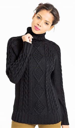 Womens sexy turtleneck wool sweater