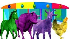Learn Farm Animals Names | Farm Animals Finger Family | colors Animals Songs | Farm Animals Rhymes