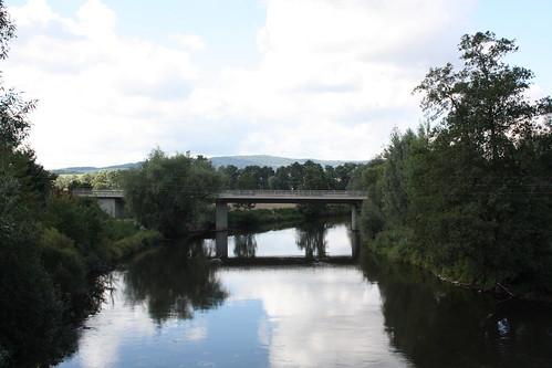 Brücke der B 7 über die Werra bei Creuzburg