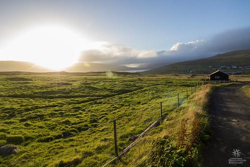 faroe færøerne føroyar sunset cozy faroeislands miðvágur vágar fo