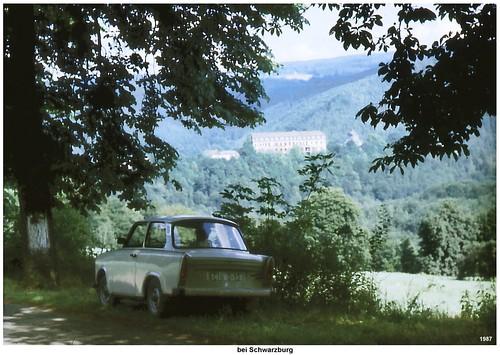 1987 - mit dem Trabi bei Schwarzburg