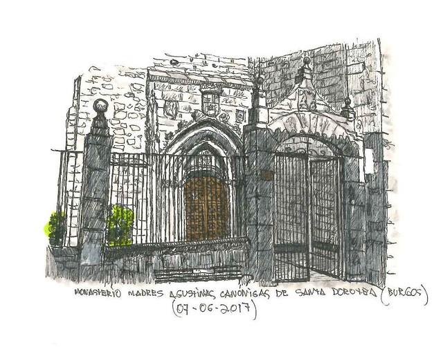 Santa Dorotea, convento en Burgos. Puertas