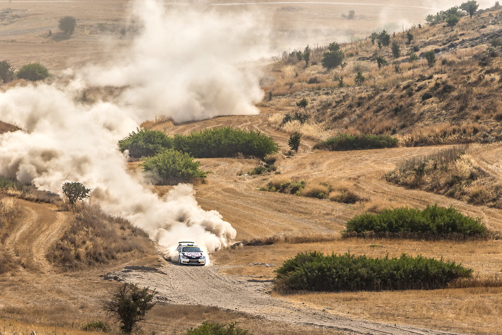 04 GRYAZIN Nikolay (lva) and FEDOROV Yaroslav (rus) SPORTS RACING TECHNOLOGIES SKODA FABIA R5 action during the 2017 European Rally Championship ERC Cyprus Rally,  from june 16 to 18  at Nicosie, Cyprus - Photo Thomas Fenetre / DPPI