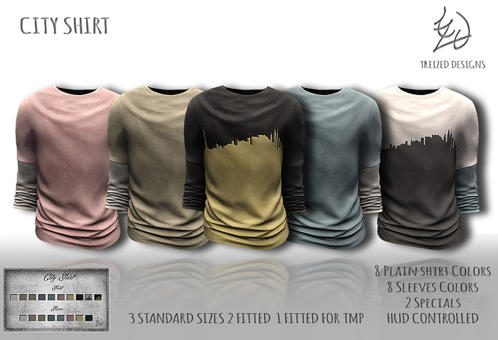 Treized Designs City Shirt - SecondLifeHub.com
