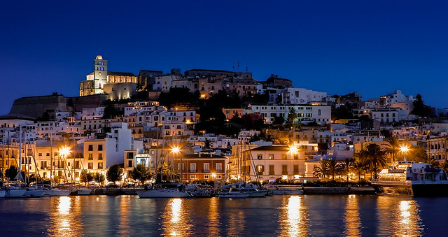 A blue night in Ibiza.