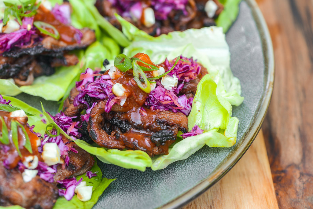 Barbecue Beef Lettuce Wraps