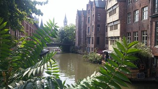 Canales en Gante, Bélgica