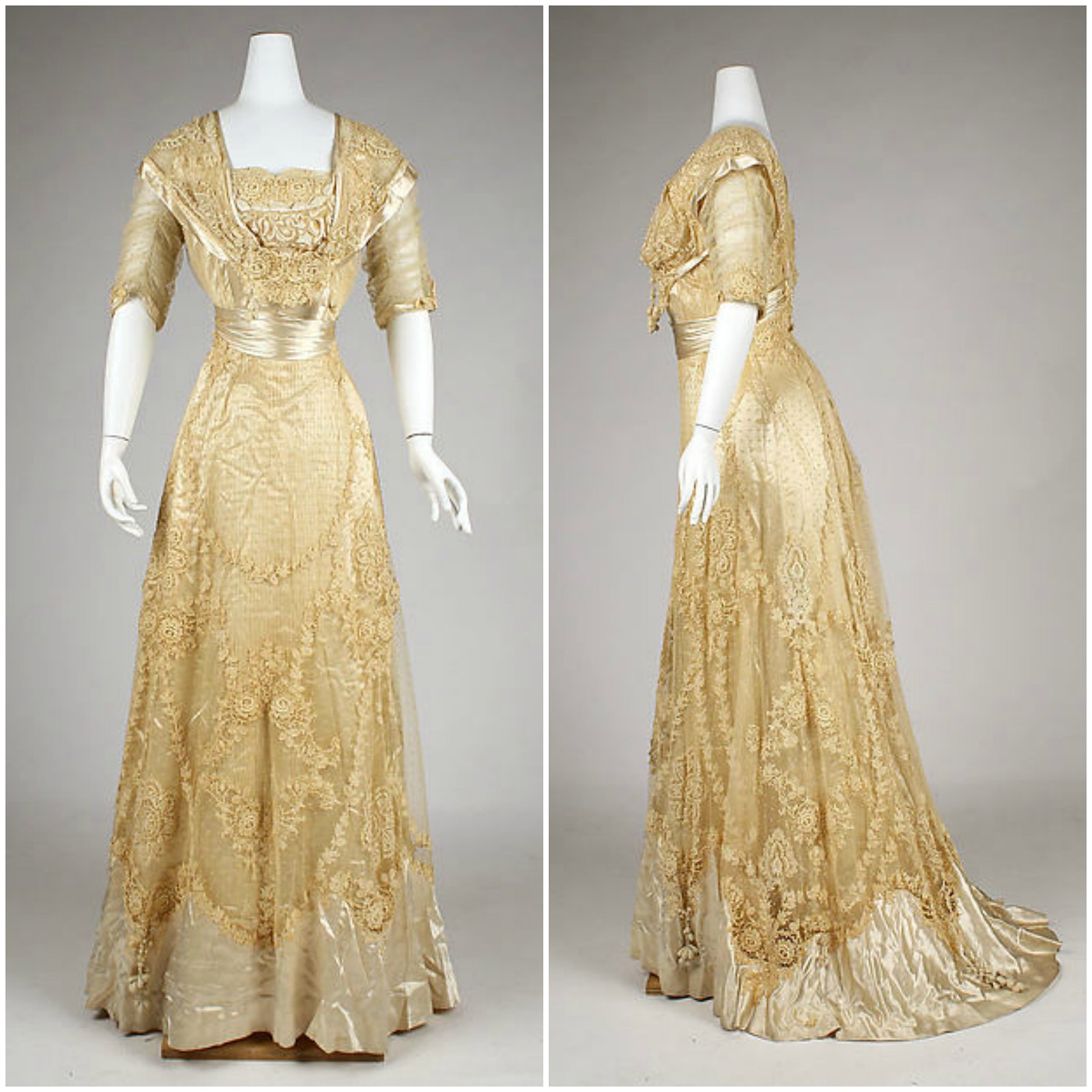 1908 Ball gown. American. Cotton, linen, silk. metmuseum