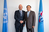 (L to R) Prof. Klaus Schwab, Founder and Executive Chairman, World Economic Forum and Mr Houlin Zhao, Secretary-General, ITU
