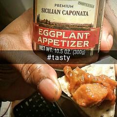 #alessi #caponata on a #ancientsproutedgrains #primizie #crispbread #eatme #myfoodporn