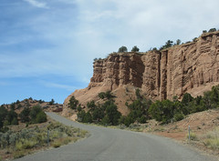 Cliffs at curve of Cottonwood Canyon Road near Cannonville, Utah