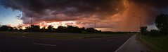 Storm at Sunset - Pano