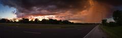 Storm at Sunset - Pano
