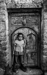Girl and Door
