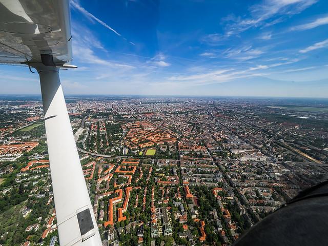 Flying above Berlin : Germany : 2017