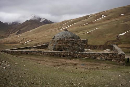 variosonnart282470 tashrabat caravanserai stone mountains snow kyrgyzstan