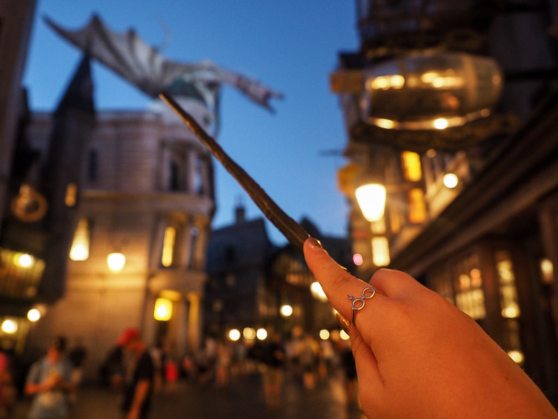 Diagon Alley at night