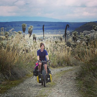 Cycling through the beautiful Reserva El Angel. #cycling #cycletouring #adventurecycling #ecuador #elangel #reservaelangel #dirtroad