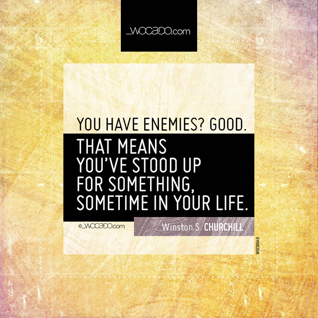 You have enemies? Good by WOCADO.com