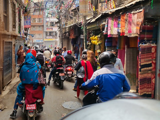 riding in Kathmandu