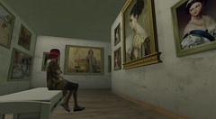 Visiting the gallery