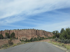 Cliff wall, Cottonwood Canyon Road near Cannonville, Utah
