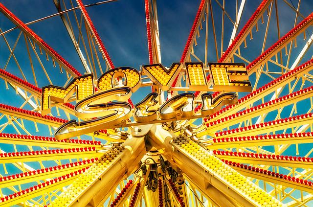 Ferris wheel-Riesenrad Detail