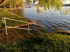 Lake is high at Kinsmen park